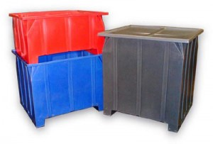 Stacking Pallet Containers in three heights